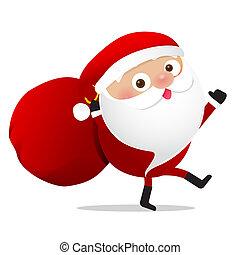 Happy Christmas character Santa claus cartoon 026