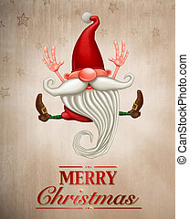 Happy Christmas elf Greeting card