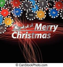 happy Christmas inscription with a Santa