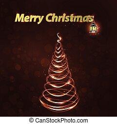 happy christmas inscription with lantern