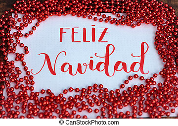Happy Christmas, Message in Spanish