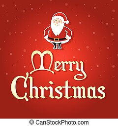 Happy Christmas on red background