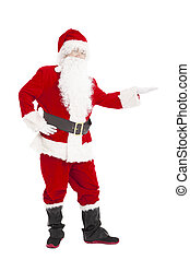 Happy Christmas Santa Claus with showing gesture
