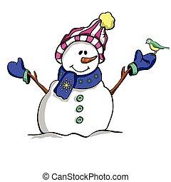 Happy Christmas snowman