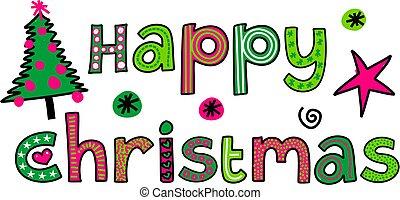 Happy Christmas Text