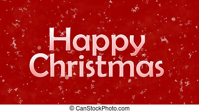 Happy Christmas text on red background