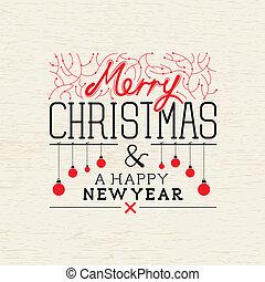 Happy Christmas Vector