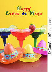 Happy Cinco de Mayo colorful party theme with bright color...