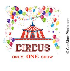 Happy circus card