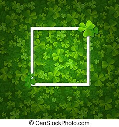 Happy Clovers Frame