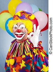 "Happy Clown - AOkay - Friendly clown giving the \""okay..."