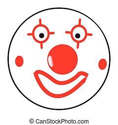 Happy Clown Smile Face Button Emoticon