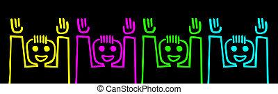 Happy color team