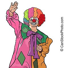 Happy Colorful Clown