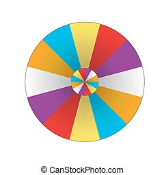 Happy colorful wheel of fortune. vector Illustration.