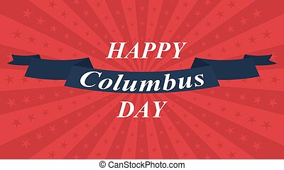 Happy Columbus Day background. Vector illustration.