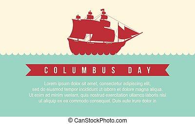 Happy Columbus Day style background
