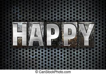 Happy Concept Metal Letterpress Type