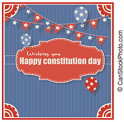 Happy Constitution Day Greeting - old wishing you happy...