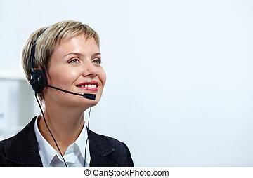 Happy consultant