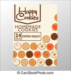 happy cookies - This design is suitable for a brochure or...