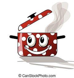 Happy cooking cartoon