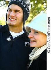 Happy Couple Enjoying Outdoor