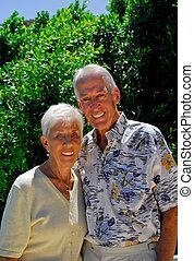 happy couple - happy senior married couple
