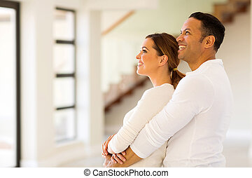 couple in new home