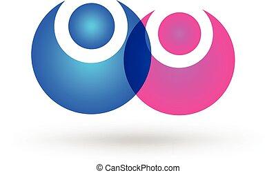 Happy couple logo