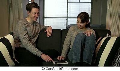 Happy Couple Man Woman Husband Wife