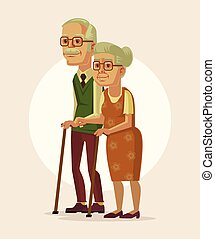 Happy couple of grandparents