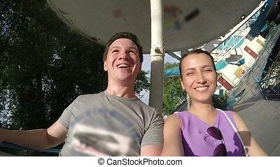 Happy Couple on the Carousel