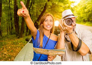 Happy Couple On Travel