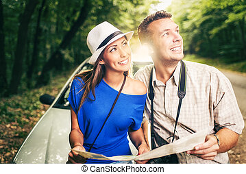 Happy Couple On Travel
