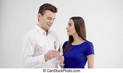 Happy couple on Valentines day