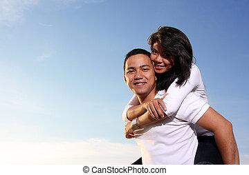 couple - happy couple outdoor