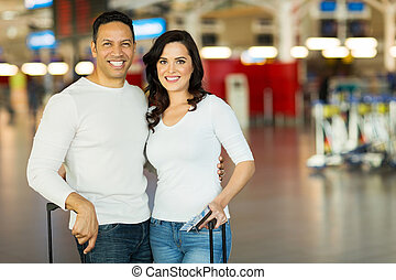 couple travel by air