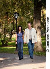 Happy Couple Walk