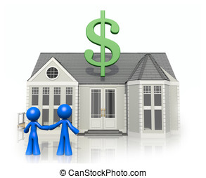 Happy Couple with New Home, Considering Purchase - Happy...
