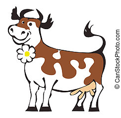 Happy cow - Cartoon of happy cow