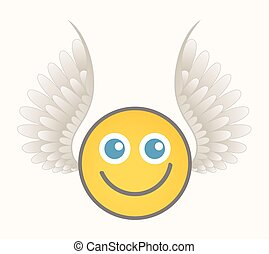Happy Cupid - Cartoon Smiley Vector