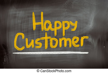 Happy Customer Concept