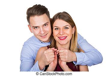 Happy cute couple