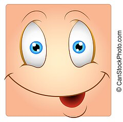 Happy Cute Face Box Smiley