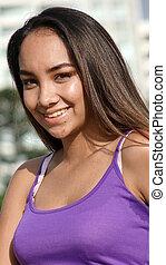 Happy Cute Peruvian Girl