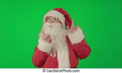 Happy dancing Santa Claus on a Green Screen Chrome Key