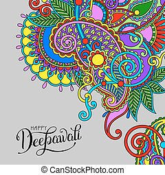 Happy Deepawali greeting card with hand written inscription...