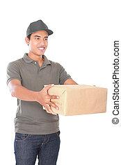 happy delivery man
