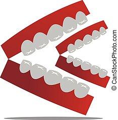 Happy Dental Logo Design Template Vector